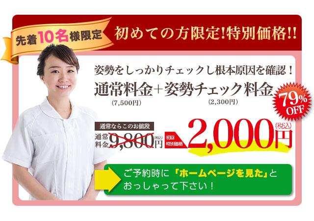 通常9800円のところ初回特別価格2000円